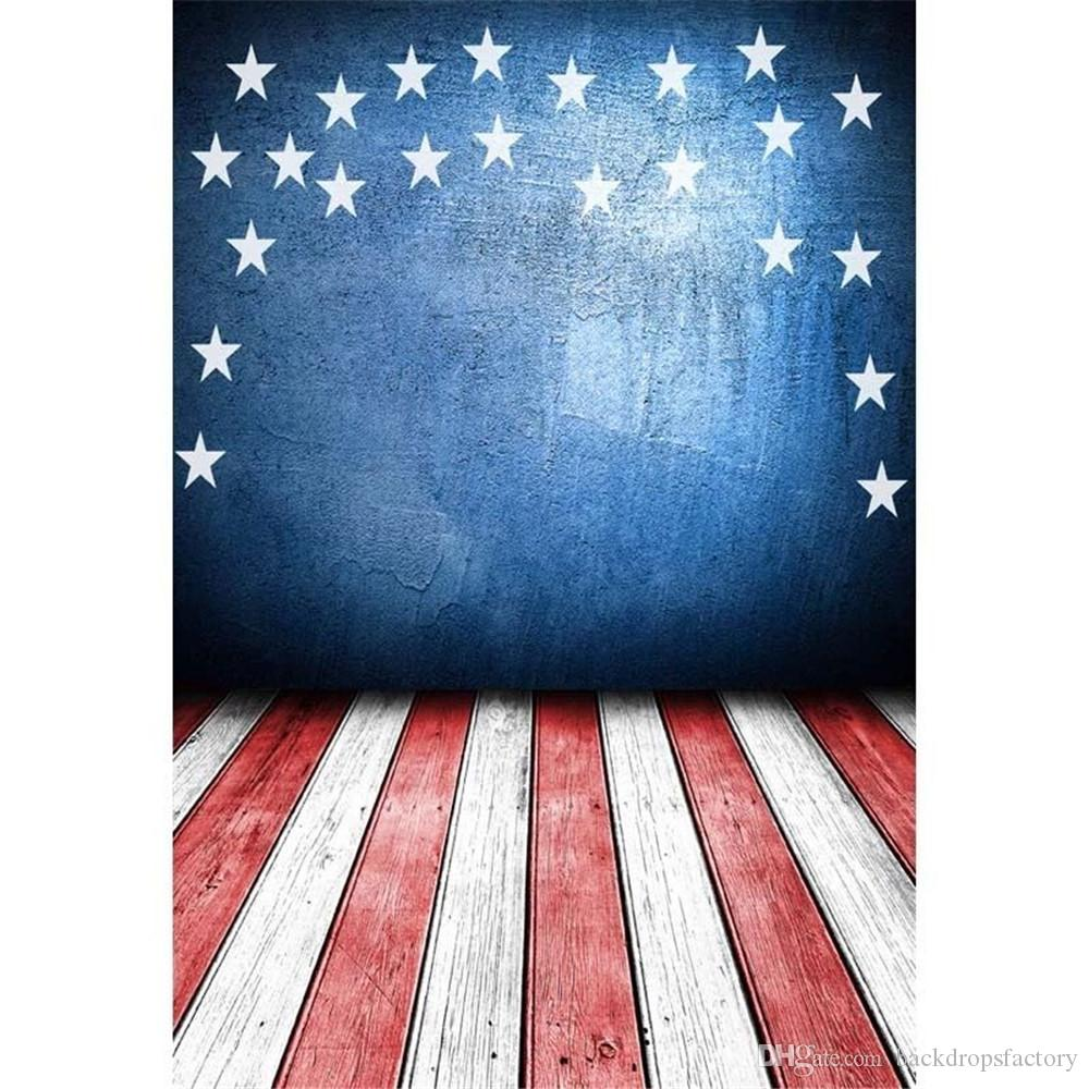 2018 blue concrete wall stars american flag photography backdrops