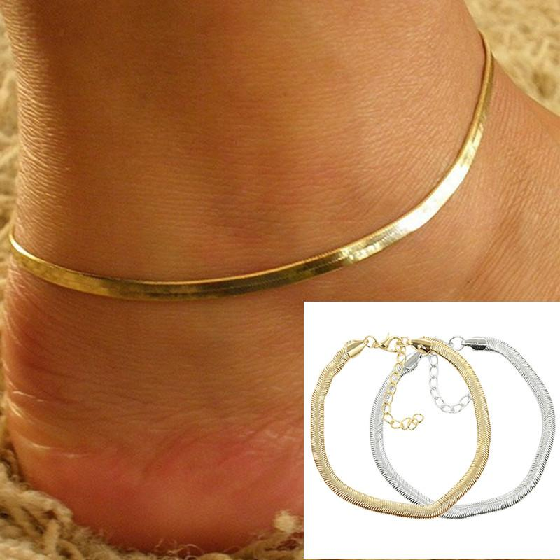 1693b3810db 2019 New Women Ankle Bracelet Foot Jewelry Simple Gold Silver Chain Charm  Beach Bohemia Anklet Gifts From Cparrot love999