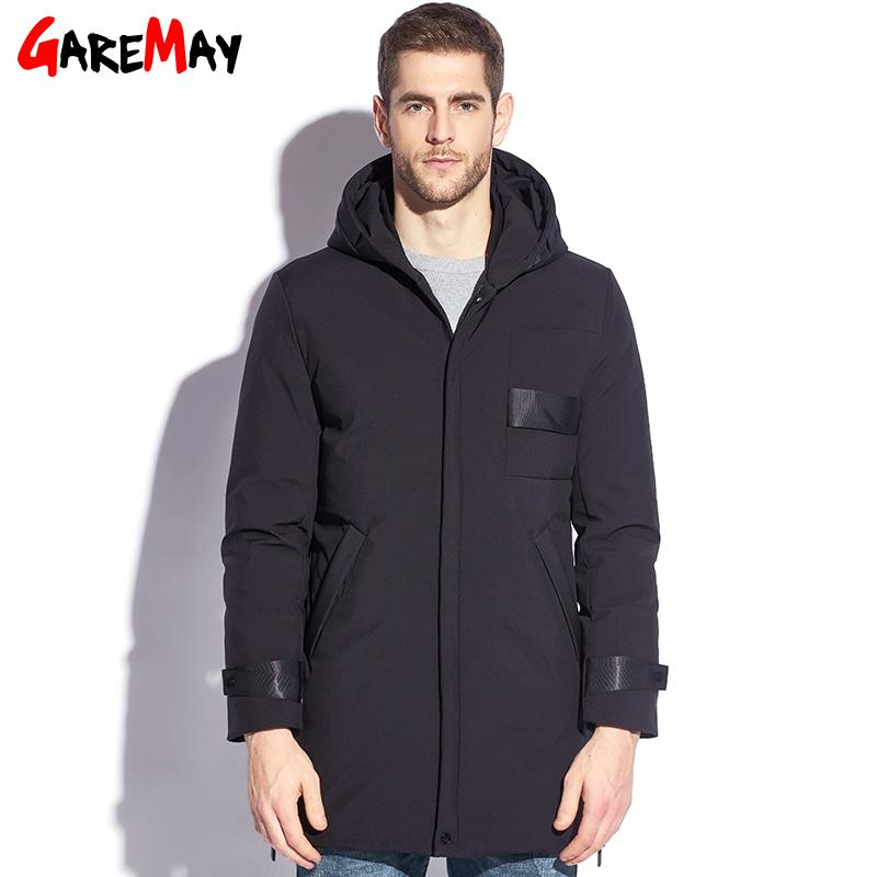 2a1171ffbdd 2019 GAREMAY Feather Jacket Men Winter Male Duck Down Jacket Long Plus Size  Men S Puffer Down Parkas Hooded Black Big Coat Men 2017 From Lookpack