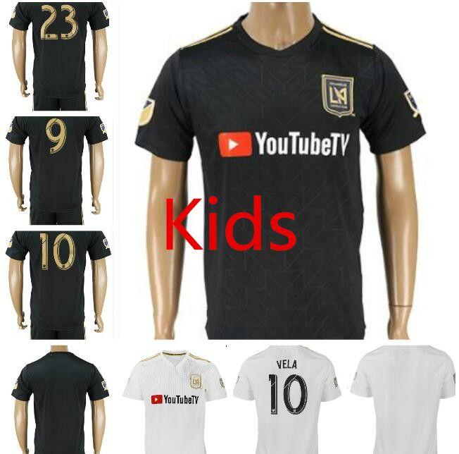 28a5f5ecc 2019 2018 LAFC Carlos Vela Soccer Jerseys Kids 18 19 Home GABER ROSSI CIMAN  ZIMMERMAN Black Primary Kids Football Shirts Lafc Uniforms From Zhuhao2