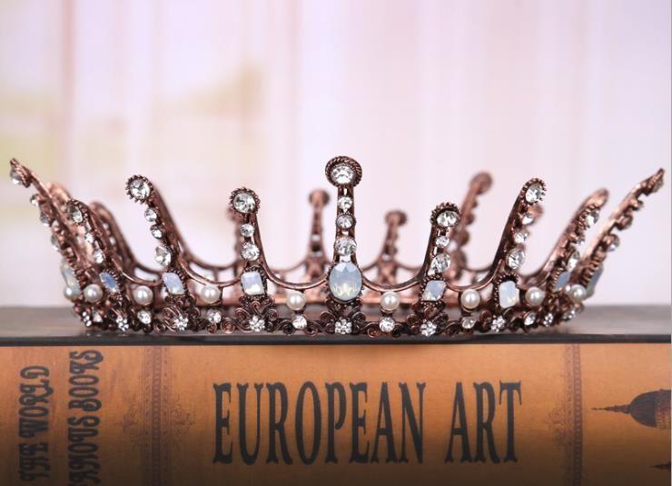New Retro bridal crown European style wedding brides crown wedding accessories