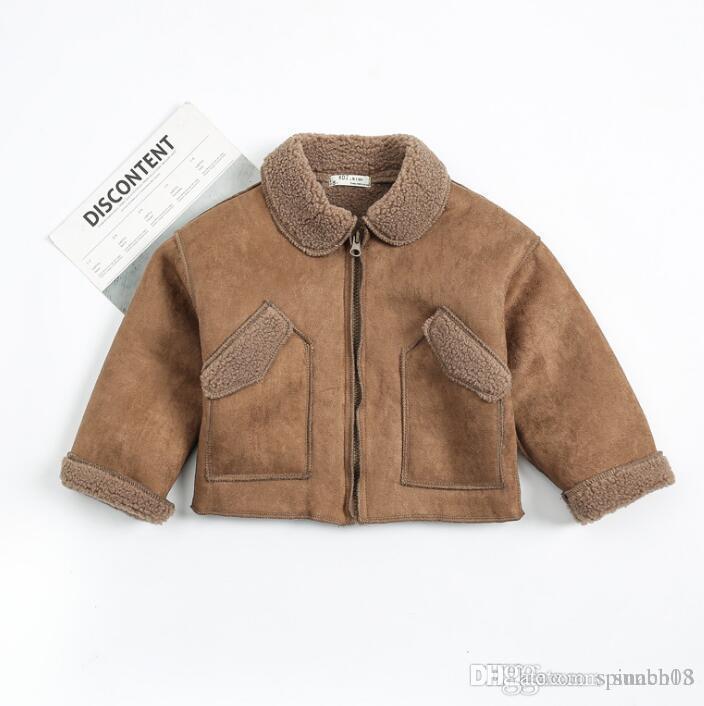 New Autumn Winter Baby Boys Coat Kids Faux Lamb Wool Warm Coat Baby ... 6323457cc7