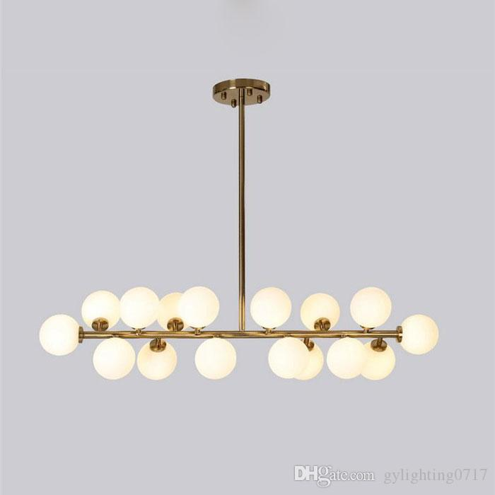 8374b0f9e0 Modern Island Lamp Molecular Lustres Chandelier Modern DNA Hanging Lights  Nordic Art Globe Glass Shade Dinning Room Industria Lighting Chandeliers 3  Light ...