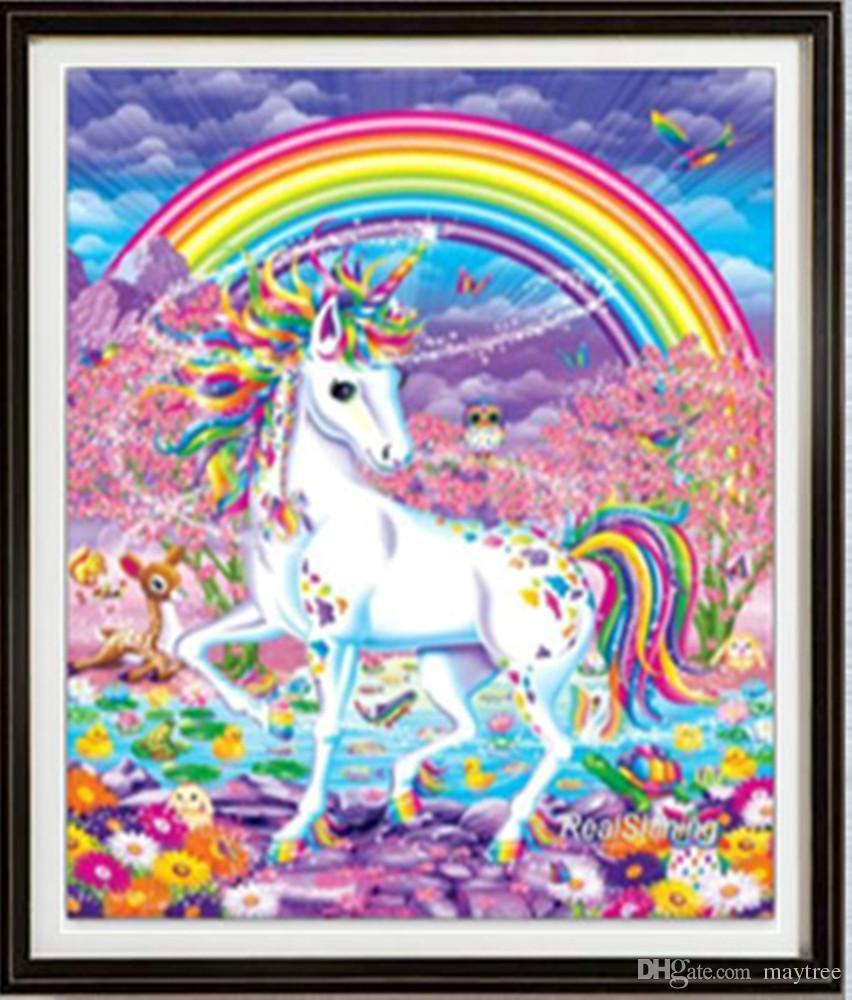 2019 Full Drill 5d Diamond Painting Unicorn Rainbow Arts