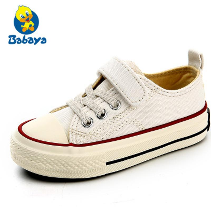 63a37dcd Kids Sneakers For Girl Children Canvas Shoes Boys Sneakers 2018 Spring  Autumn Girls Shoes White Black Solid Fashion Children Flat Casual Boots For Boys  Kids ...