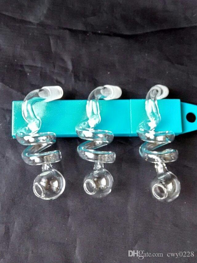 Transparent spiral pot , Wholesale Glass bongs Oil Burner Glass Pipes Water Pipes Oil Rigs Smoking