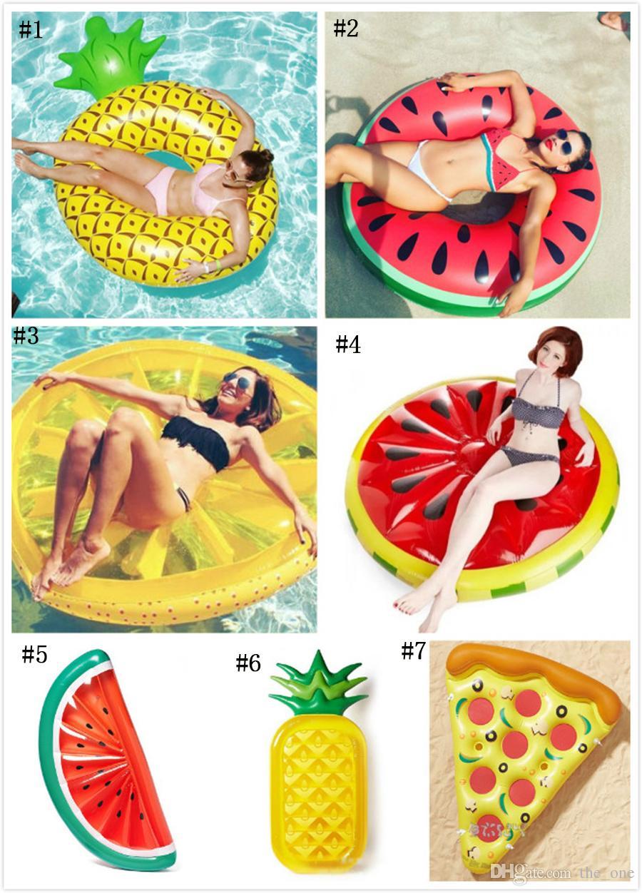 creative giant inflatable half watermelon floating row air