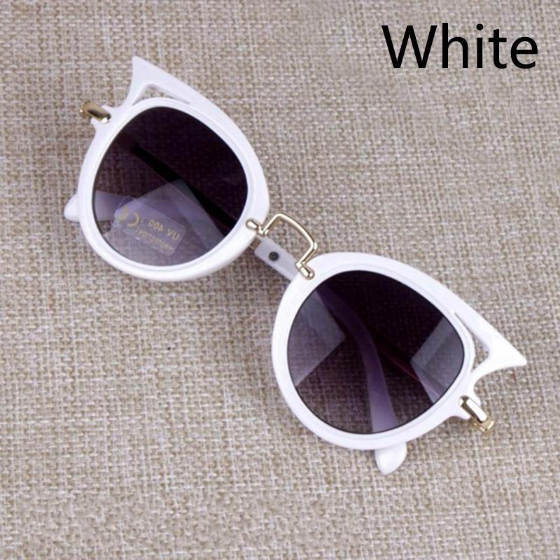 Cat Eye Kinder Sonnenbrille Junge Mädchen Mode UV Schutz Sonnenbrille Einfache Nette Brillen Rahmen Kind Brillen Sommer Strand Zubehör