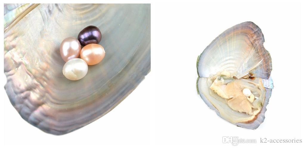 NEW 2017 Wholesale ROUND Akoya Pearl Oyster White Pink Purple Black 6-7mm PARTY FAVOR Vacuum Packaging