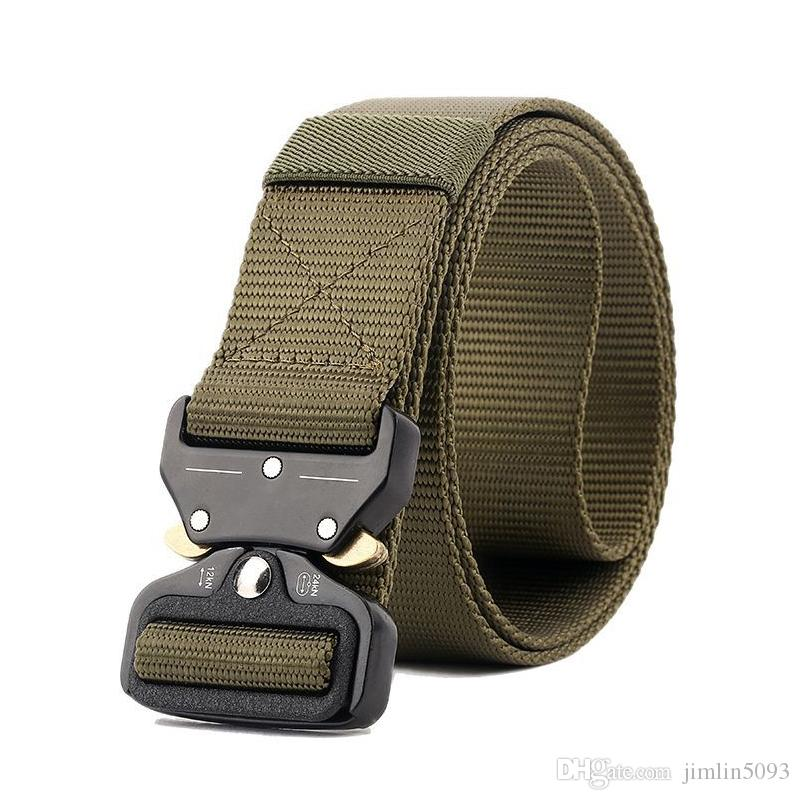 New Cobra Zinc Alloy Tactical Belt Outdoor Quick Release Safety Buckle  Quick Dry Pure Nylon Durable Breathable Training 3 8cm