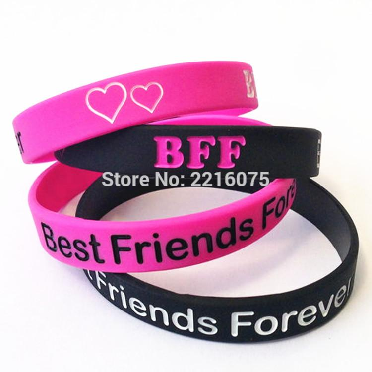 2019 Whole Salebff Best Friends Forever Wristband Silicone Bracelets