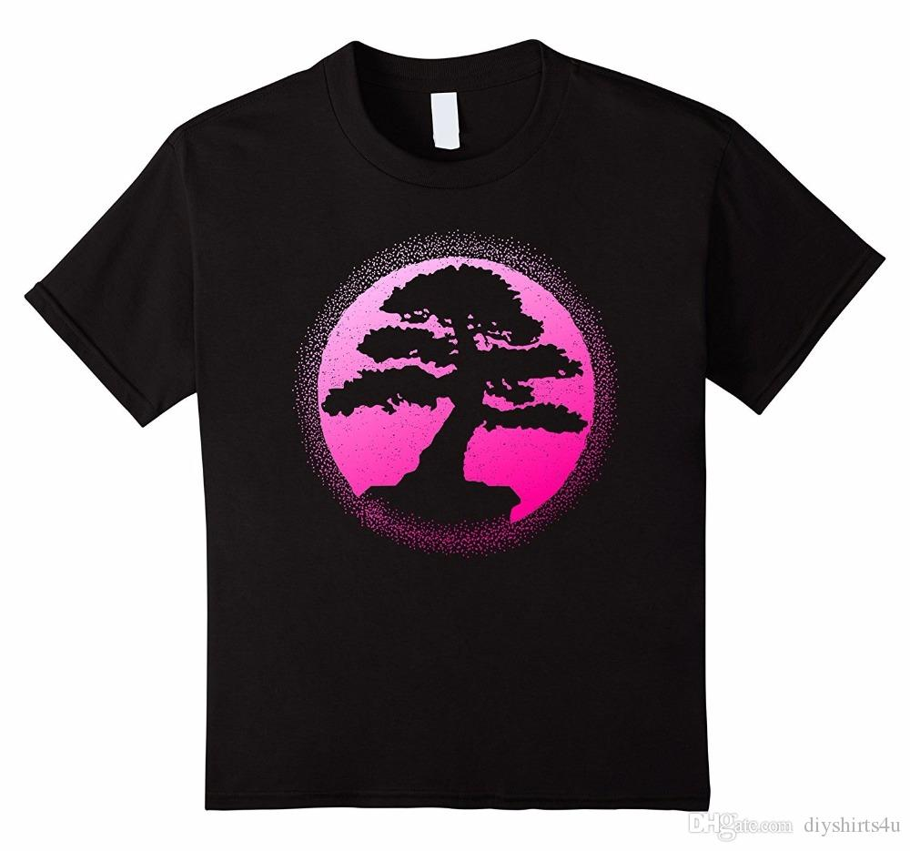 Custom Design T Shirts Crew Neck Short Fashion Bonsai Tree Mens T