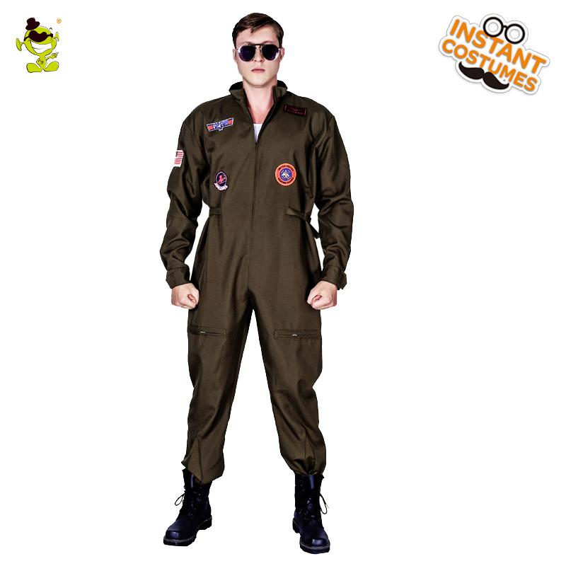 d091cf1d8d5f New Arrival Men S Top Gun Costume Masquerade Gun Jumpsuit Carnival Party  Performance Movie Strong Clothing For Male Suits Halloween Costumes For 4  People ...