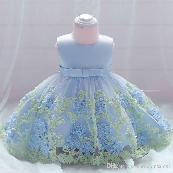 Großhandel 2018 Blumen Baby Kind Mädchen Abend Kleid Kleinkind ...