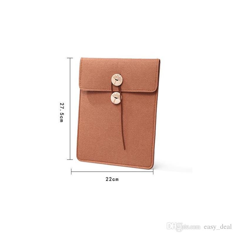 Retro Pu'er Tea Box Felt Storage Bag Kongfu Tea Accessories Envelope Gift Case Message Bag For Friend ZA6219