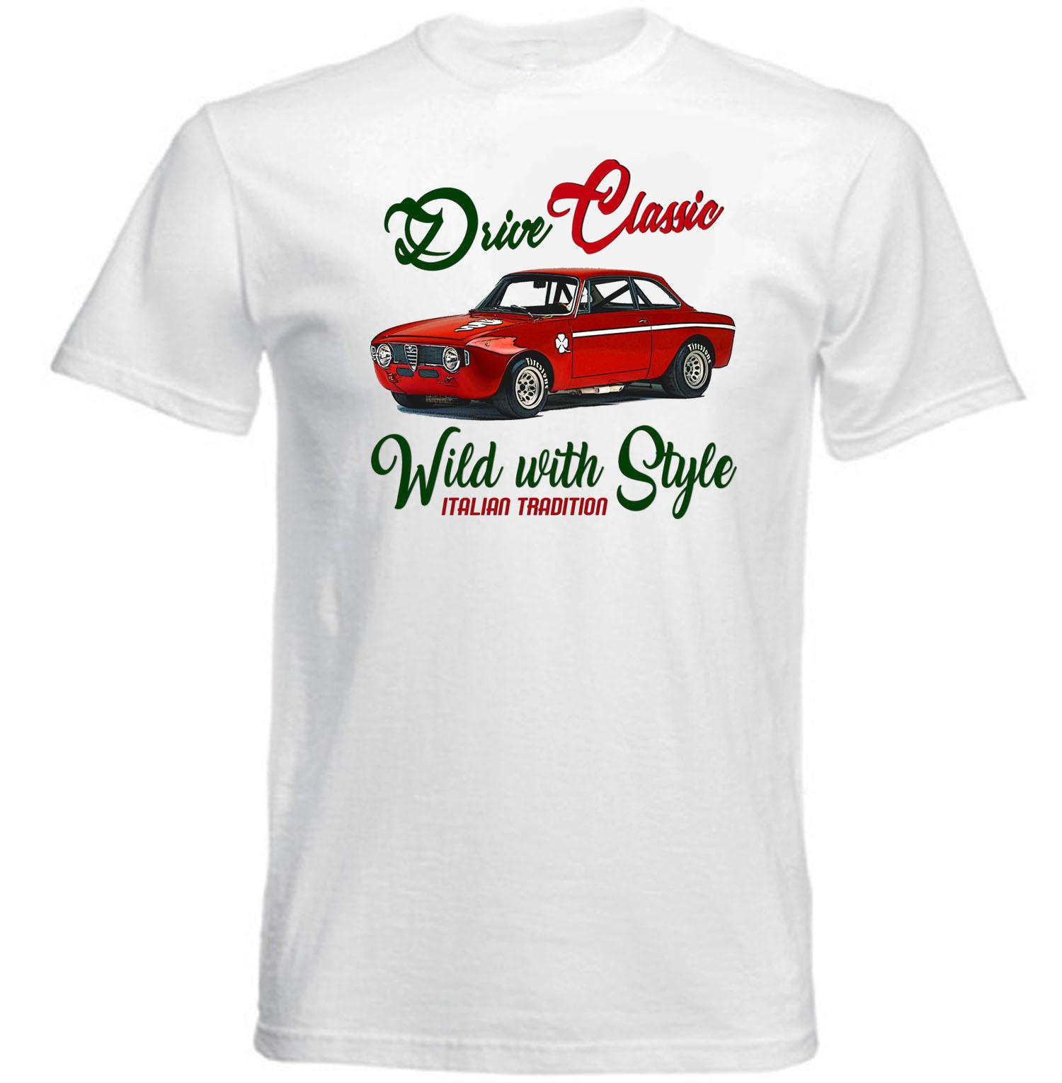 Vintage Italian Car Alfa Romeo Gt Junior 1969 New Cotton T Shirt Sweatshirt Shirts Cheap Online With 3031 Piece