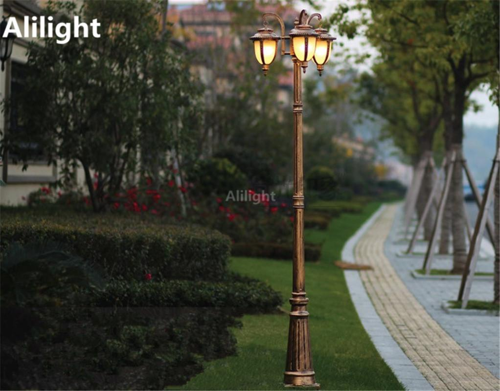 Wholesale europe garden outdoor lighting poles blackbronze wholesale europe garden outdoor lighting poles blackbronze classical landscape lighting lamp 2m25m29m aluminum ac 100 240v fixtures outdoor lighting aloadofball Gallery