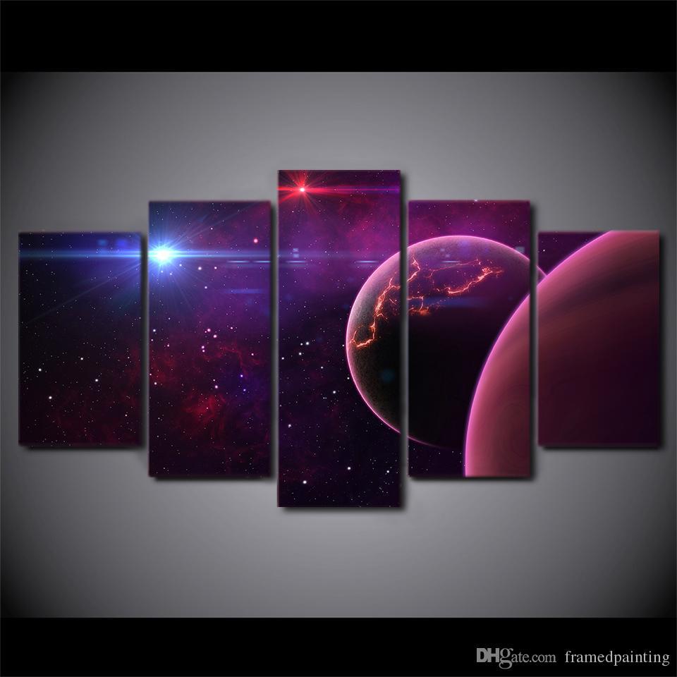 5 Pièce Toile Art HD Imprimer Home Decor univers science peintures Pour Salon Mur Affiche Affiche Livraison Gratuite