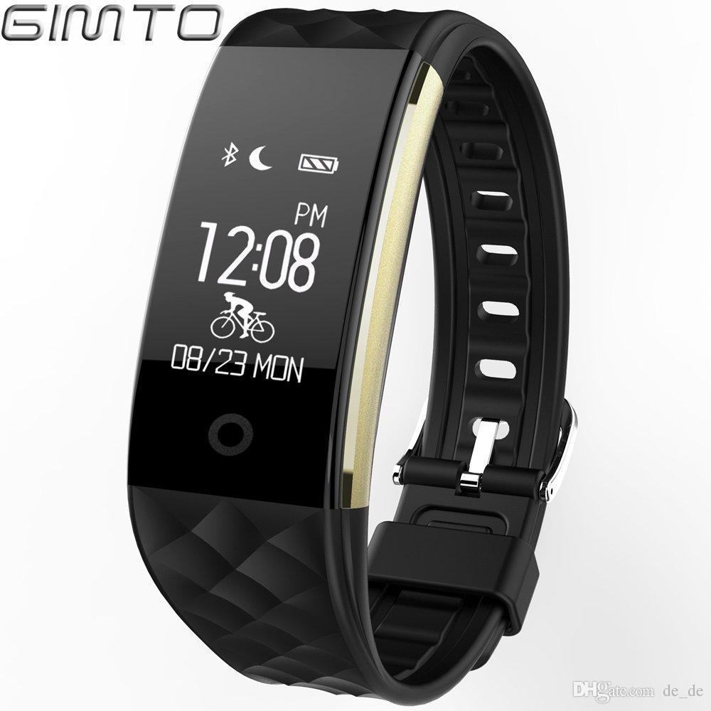 ec57c926e735 Compre GIMTO Pulsera Inteligente Relojes 2018 Bluetooth Negro Led Digital  Todo Compatible IOS Android Mujeres Hombres Casual Sport Reloj De Pulsera A   50.11 ...