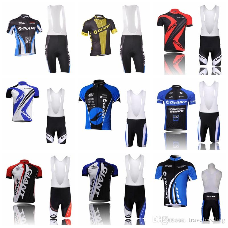 UCI Team 2018 Giant Cycling Jersey Bike Bib Shorts Suit MTB Mens Summer  Ropa Ciclismo Cycling Wear BICYCLE Maillot Culotte 82903Y Biker T Shirt  Vintage ... 9e2706fa8