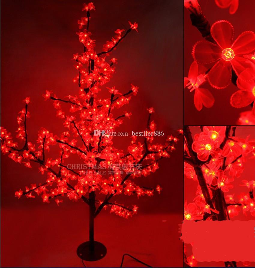 LED Cherry Blossom Tree Light 576 pezzi Lampadine a LED altezza 1,5 m 110 / 220v Sette colori opzione uso esterno antipioggia