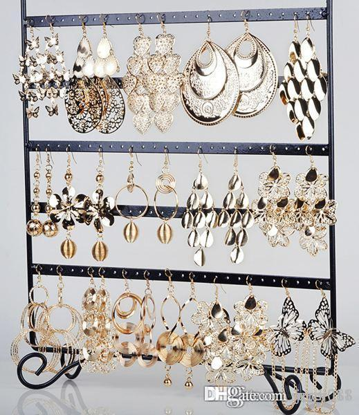 10 pairs Wholesale Jewelry lots Mixed Style Gold Plated Women Dangle Earrings Jewellery & Watches