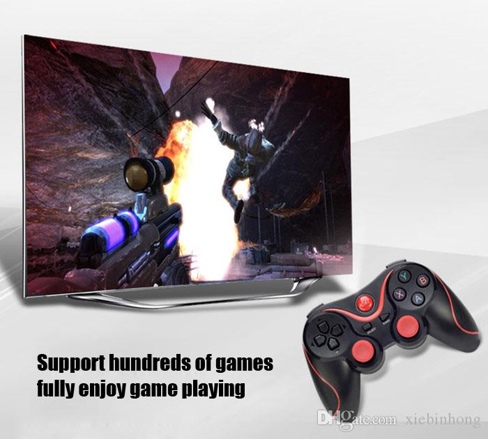 T3 Bluetooth Gamepad Joystick Wireless Game Pad Joypad Gaming Controller Remote Control For Samsung S8 Android Phone Smart TV Box PC C8 X3