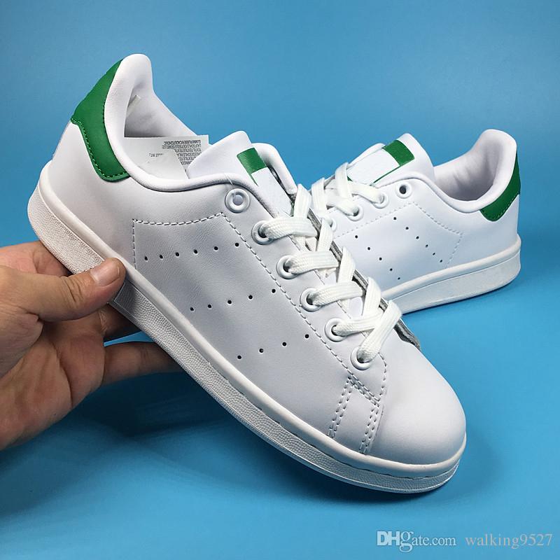 super popular 4a1df 60854 2018 Stan Smith Moda Para Hombre Mujeres Zapatillas De Deporte Originales  Zapatos De Oro Gota Del Envío Tamaño 36 45 Zapatillas De Skate Por  Walking9527, ...