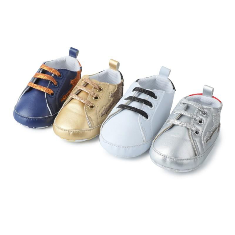 d09b7274d 2019 Baby Toddler Shoes Leather Reflective Stitching Casual Shoes ...