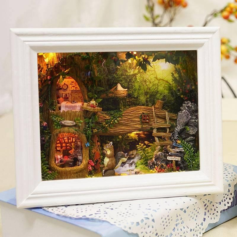 Großhandel Cuteroom Diy Holz Handmade Dollhouse Kit Bilderrahmen ...
