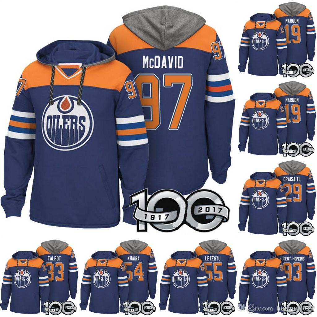 4ea9ecab0 Edmonton Oilers Hockey Hoodies Connor McDavid Ryan Nugent-Hopkins ...