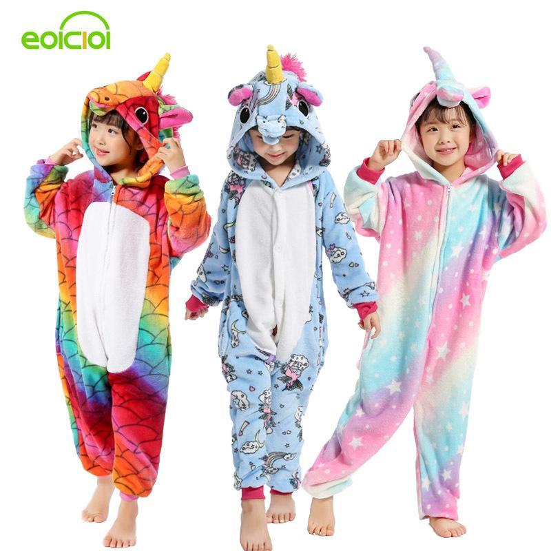 836e40143e Compre Niños Niñas Nueva Franela Animal Pegasus Unicornio Cosplay Pijamas  Onesies Invierno Niños Pijamas Puntada Ropa De Dormir Para Niños Con  Capucha A ...
