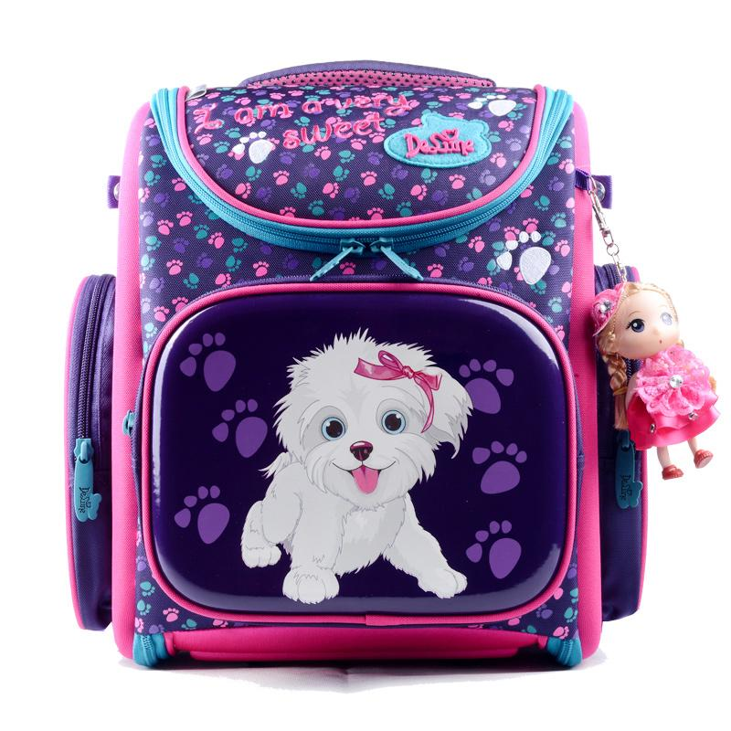 1214bde8be Delune New European Children School Bag Girls Boys Backpack Cartoon Mochila  Infantil Large Capacity Orthopedic Schoolbag Vintage Backpacks For Girls  Sale ...