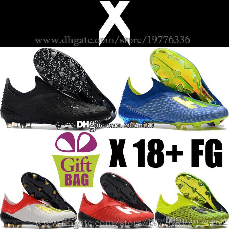 Compre New Original X 18 FG Futebol Sapatos Botas De Futebol De Couro Dos  Homens De Couro Ao Ar Livre Sapatos De Futebol Chuteiras Azul Preto Verde  Vermelho ... e317df09174cf