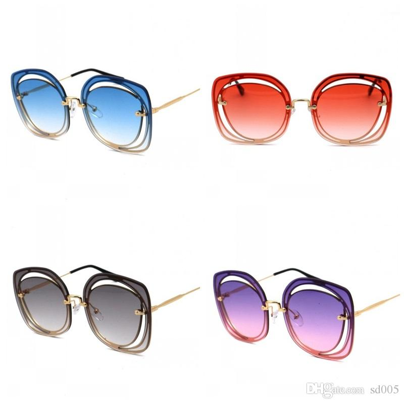 132073cc91b Fashion Oversize Lens Men Women Sunglasses Luxury Designer Ultraviolet  Proof Sun Glasses Vintage Style Eyeglasses Many Colors 18bc ZZ Cheap  Designer ...