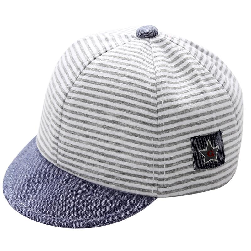 37bdf325c 2019 Baby Baseball Cap For 3 12 Months Infant Toddler Boys Girls Cotton  Adjustable Snapback Stripes Style From Benedicty, $36.68 | DHgate.Com