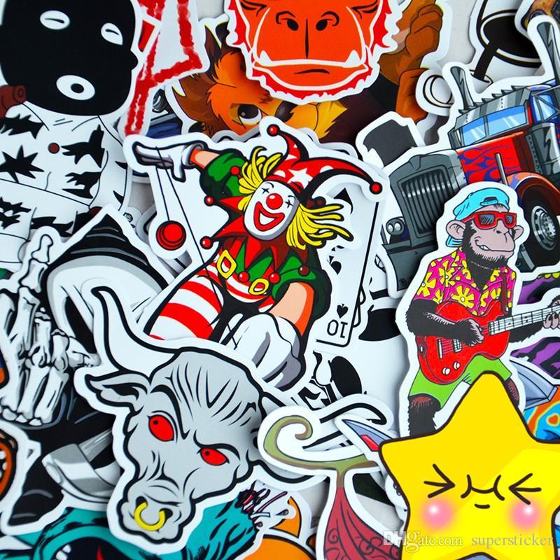 100 stücke Auto Motorrad Fahrrad Skateboard Laptop Gepäck Vinyl Aufkleber Graffiti Laptop Gepäck Aufkleber Autoaufkleber