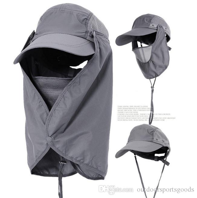 New !Outdoor sun visor, removable, uv - proof, fishing mountain camping outdoors hat anti - mosquito anti - wind hat