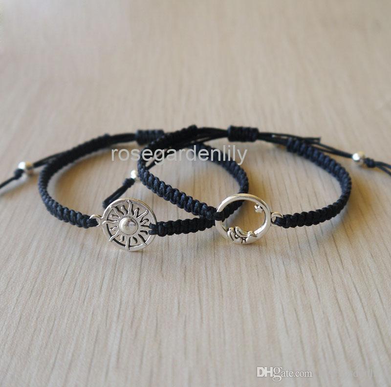 Acheter Nouveau Soleil Et Lune Couple Bracelet Love Bracelet Copain Copine  Bijoux Cadeau D\u0027anniversaire De $10.76 Du Rosegardenlily