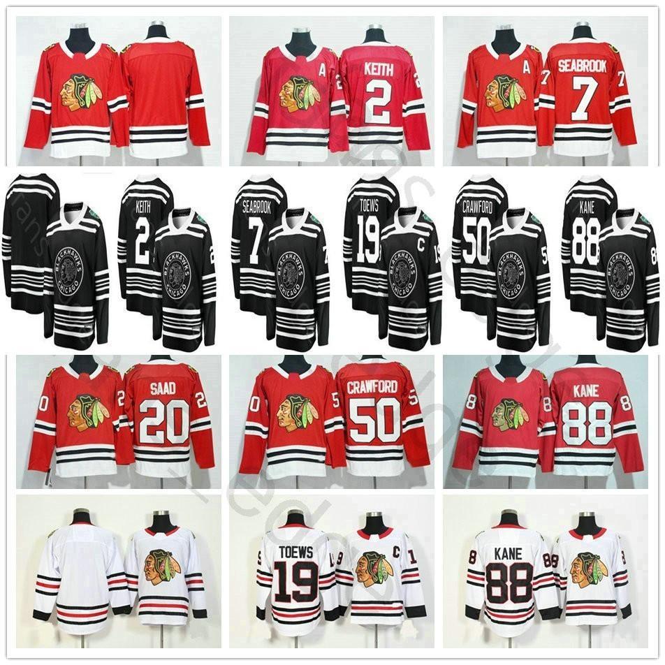 2019 New Style Chicago Blackhawks 2 Duncan Keith 19 Jonathan Toews ... 773109c55