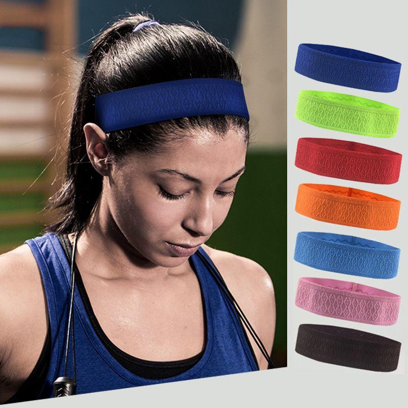 Outdoor Sport Running Headband 5cm Fitness Yoga Headwear Hairband Anti Slip  Silica Sweat Absorb Elastic Bandeau Band Unisex UK 2019 From Teawugong 05928838c24