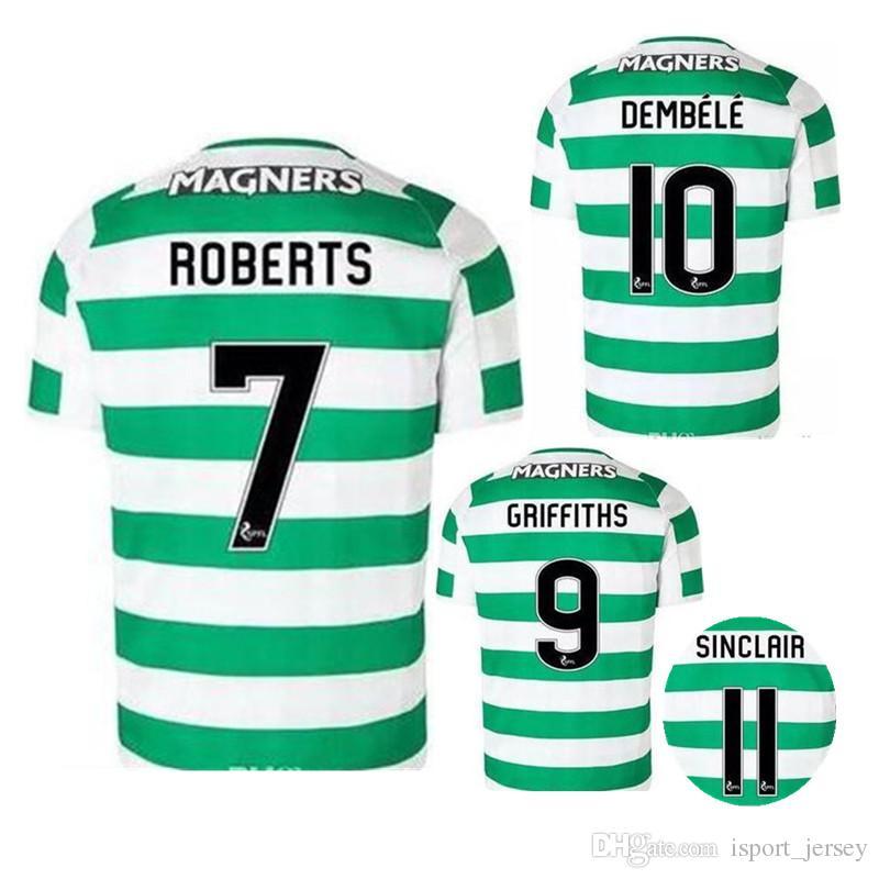 d681c9014 18 19 FC Home Soccer Jersey McGregor 2018 2019 Griffiths Dembele ...