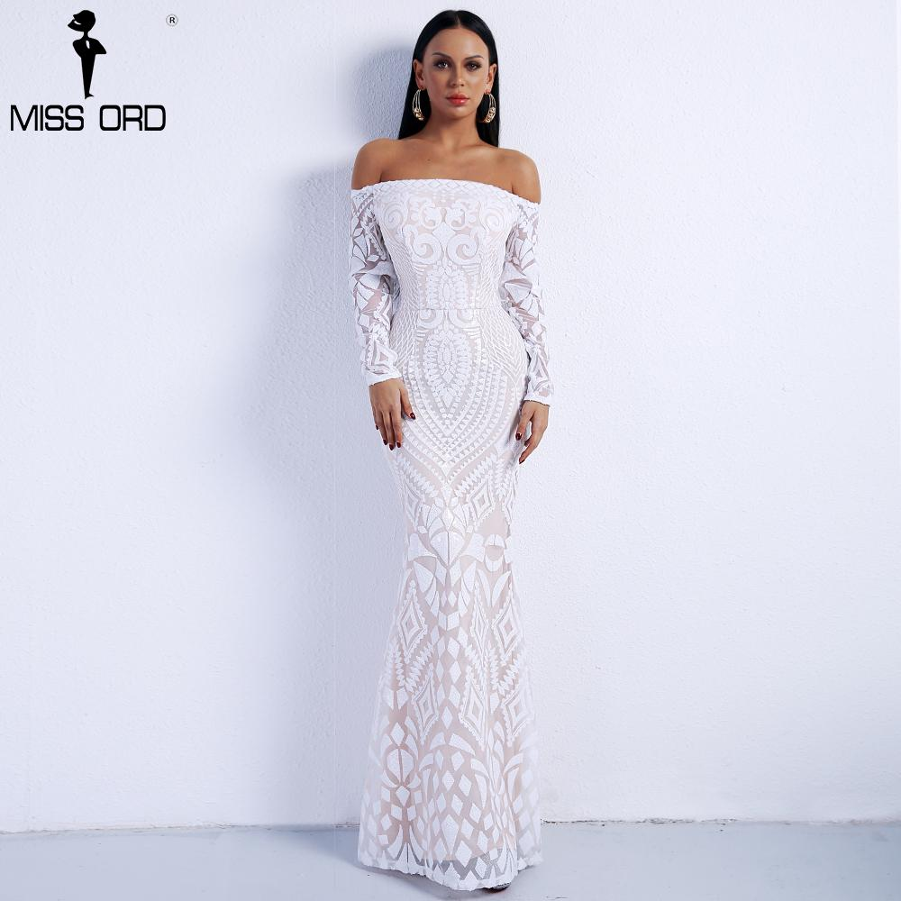 2019 Missord 2018 Sexy Slash Neck Long Sleeve Retro Geometry Dresses Female  Sequin Maxi Party Dress FT8249 2 S920 From Ruiqi02 a025d1438e0a