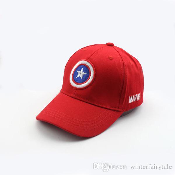 Capitán americano caliente Gorra de béisbol para niños Sombrero para el sol de verano Gorra ajustable Niño y niña Cúpula de primavera Sombrero para el sol Hip Hop es