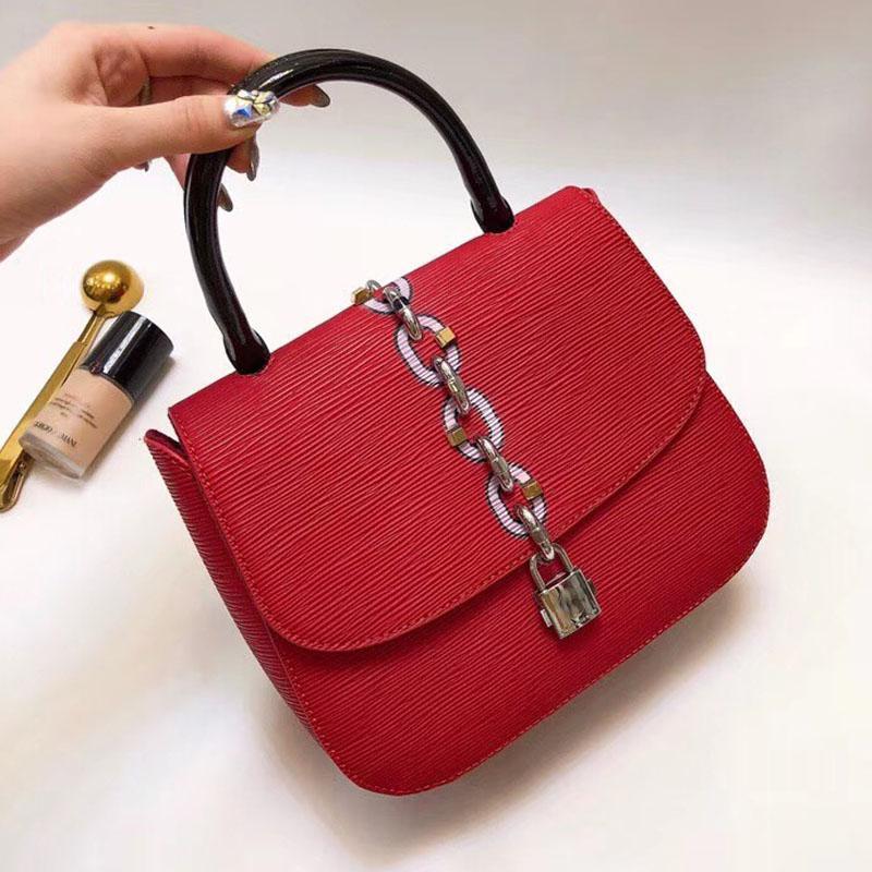 9f0aabae5e45 Chain It Women Epi Leather Handbags Famous Brands Sling Shoulder Bags  Fashion Designer Saddle Bag 2018 Crossbody Summer Purse Sliver Bag Leather  Bags ...