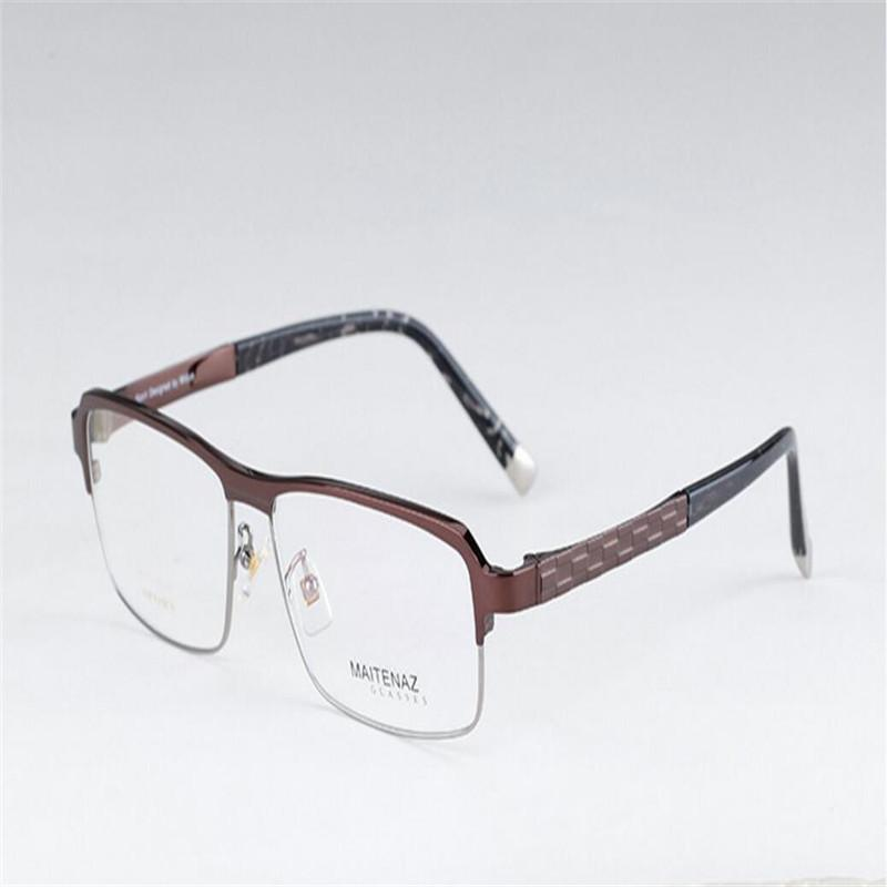 50c4330040 MONGOTEN Business New Men Half Rim Pure Titanium Ultralight Optical ...