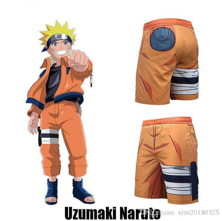546fb6389ce9b 2019 Shorts 2018 Summer New Tide Brand Beach Shorts Anime Naruto Uzumaki  Naruto 3D Printed Swim Trunks Men From Sym20180325, $18.28   DHgate.Com