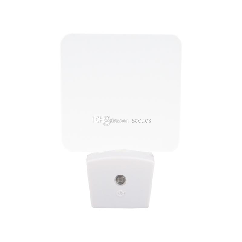Мини RGB LED Оптический Ночник Встроенный Датчик Света США Настенные Plug7 RGB Огни Пустой Акриловые Пластины Оптовая CE RohS UL Сертификации