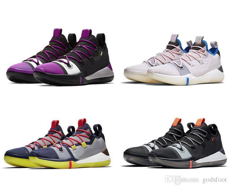 timeless design f7239 15ff6 Großhandel Kobe A.D. Pink Herren Basketball Schuhe Segel Multi Color AV3556  100 AV3555 004 Kobe AD Pink Sport Sneakers Größe 7 12 Mit Box Von Godsfoot,  ...