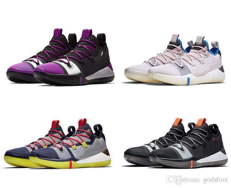 Kobe A.D. Pink Mens Basketball Shoes Sail Multi Color AV3556 100 AV3555 004  Kobe AD Pink Sports Sneakers Size 7 12 With Box Baseball Shoes Basketball  Shoes ... e552b852a7a4